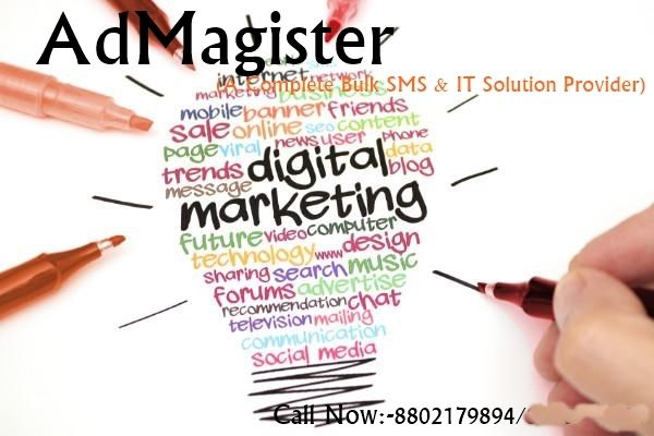 Admagister is a complete IT Solution provider and Bulk sms Provider.Admagister do all promotion activity by bulk sms,bulk email and digital marketing by using bulk sms delhi. www.bulksmsdelhincr.com