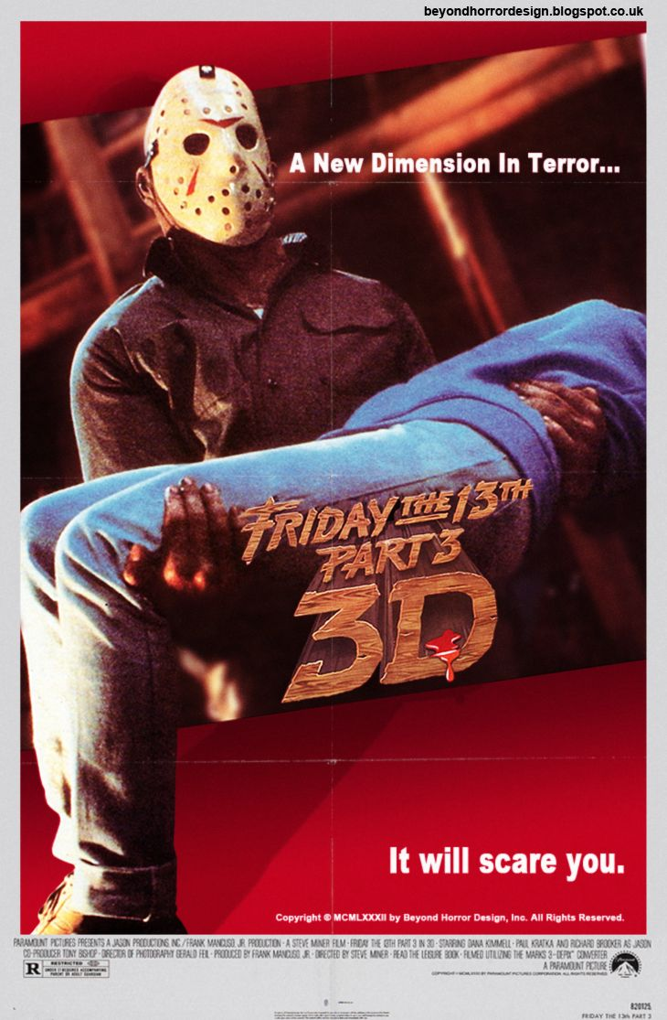 3 part poster design - Friday The 13th