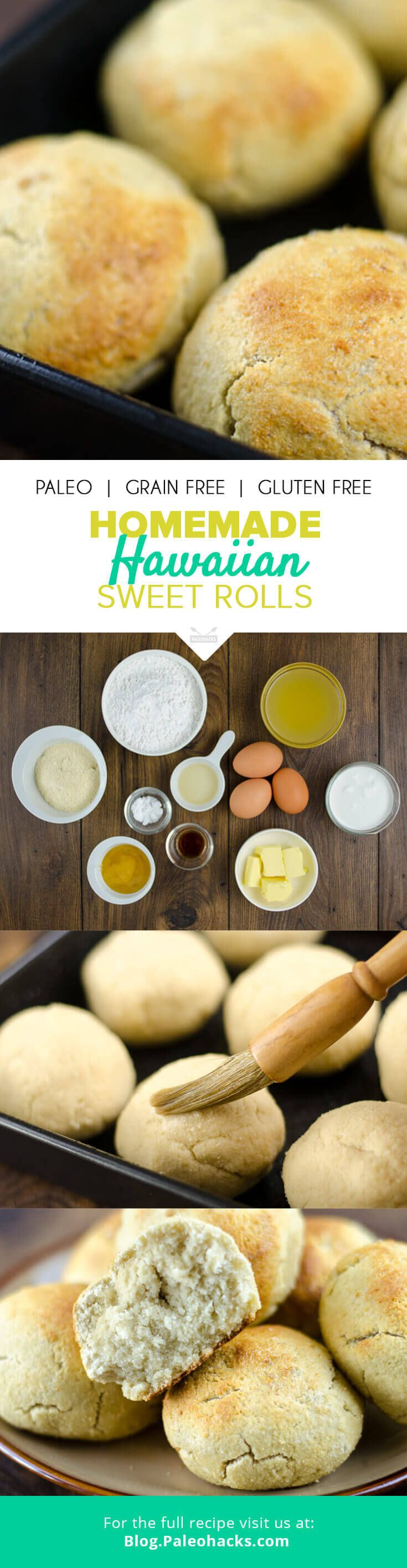 There is nothing quite like the aroma of freshly baked bread. This Paleo version of warm Hawaiian sweet rolls is naturally sweetened, dairy-free and super easy to make. For the full recipe, visit us here: http://paleo.co/hawaiianrolls