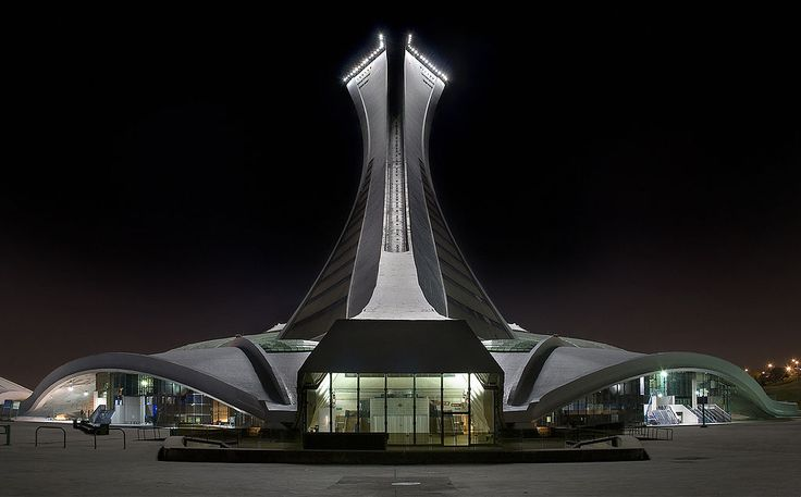 Le Stade Olympique de Montréal Nuit Arriere Edit 1 - Olympic Stadium (Montreal) - Wikipedia, the free encyclopedia