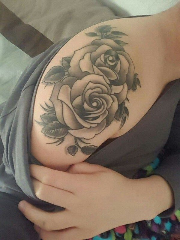 Rose Shoulder Tattoo.