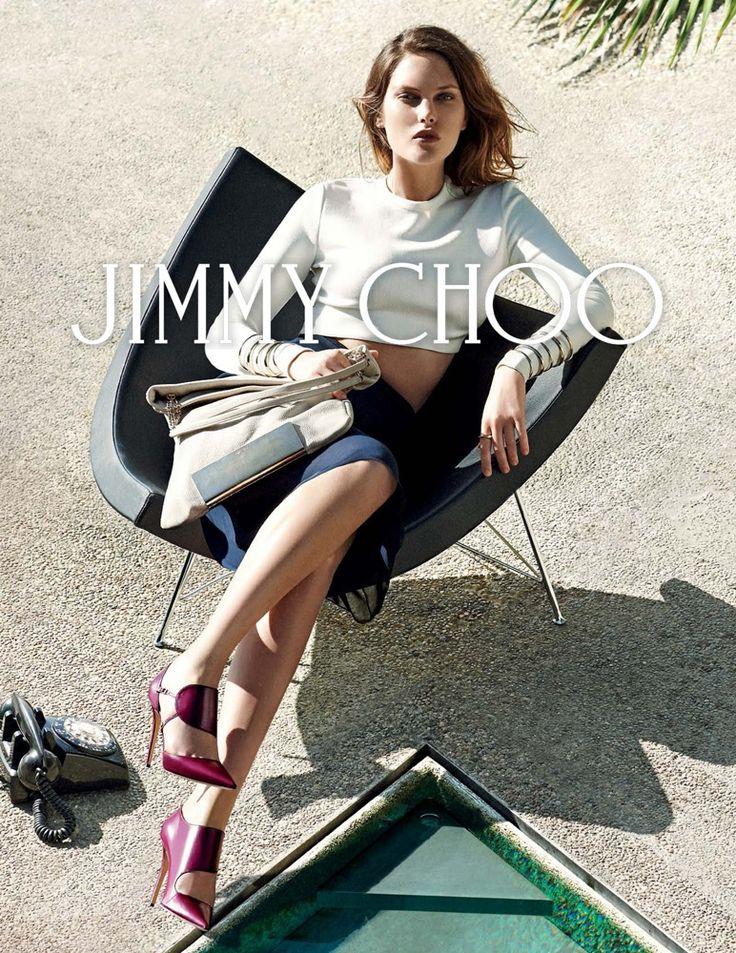 jimmy choo 2014 fall winter campaign3 Catherine McNeil Fronts Jimmy Choo Fall 2014 Campaign by Peter Lindbergh