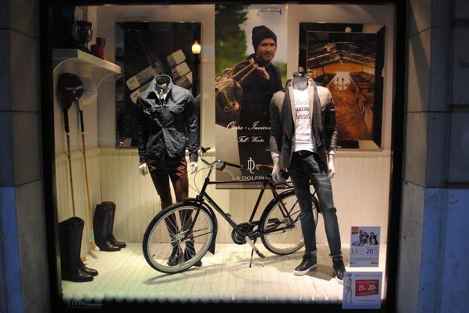 Vidriera Otoño/Invierno 2014 con Bicicletas Zikle