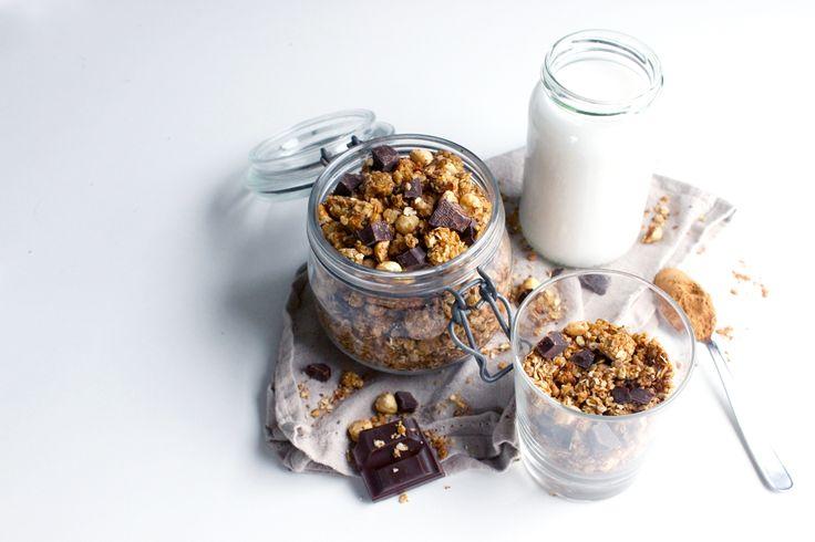Granola maison à la cannelle, aux noisettes et pépites de chocolat | Le blog de Lady Pastelle