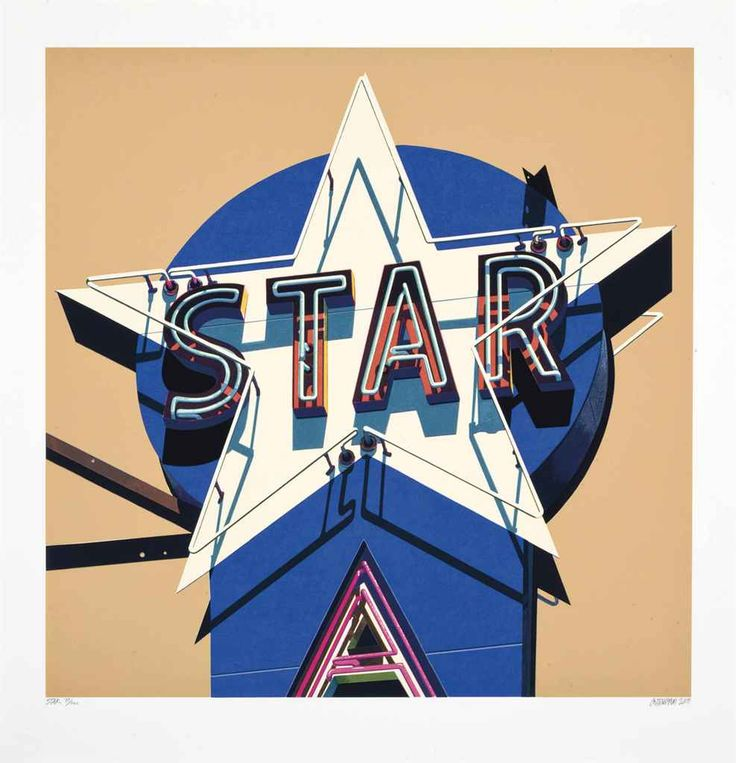 Robert Cottingham (American, b. 1935), Star, from American Signs, 2009.
