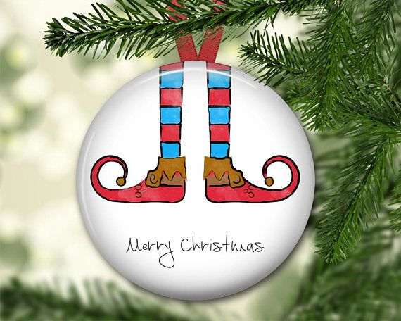 Elf Christmas ornament elf legs ornament personalized