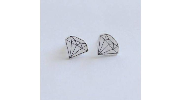 Gyémánt alakú fülbevaló , Zenzero kristályékszerek webshopja