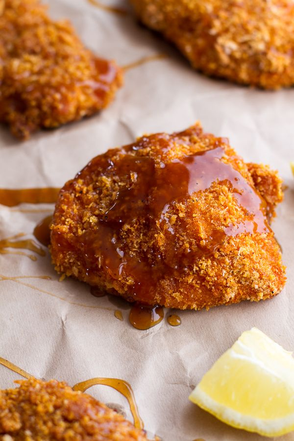 Oven-Fried Chicken With Sweet Honey Bourbon Sauce | halfbakedharvest.com