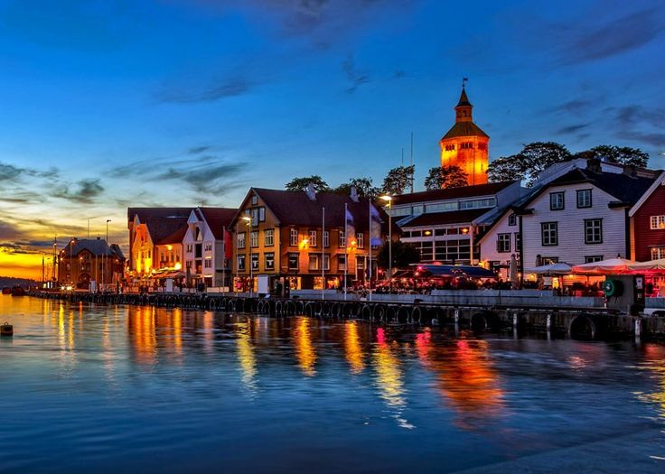 Charming Stavanger city at night   10 Top-Rated Tourist Attractions in Norway