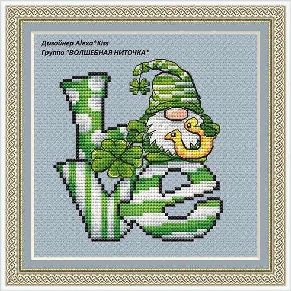 Hand Painted St Patrick\u2019s Day Cake Needlepoint Canvas by MyPinkSugarLife