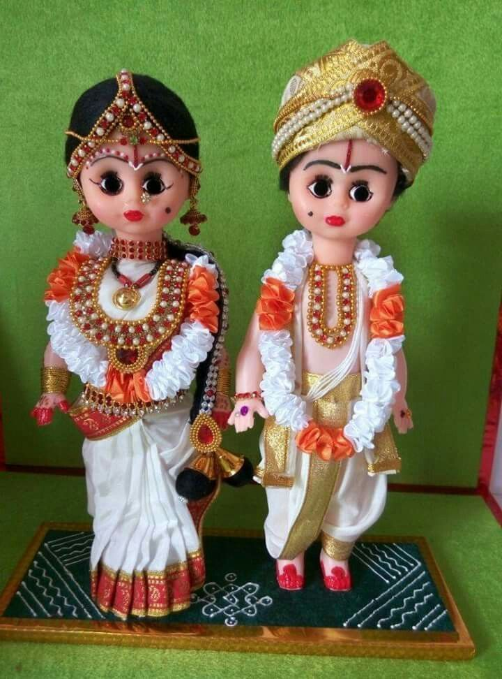 Andhra Wedding Couple Dolls Dolls In Indian Dress