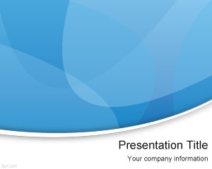 Blue modern PowerPoint presentation template is a free PPT background template that you can download if you are looking for a free professional slide design for your presentations