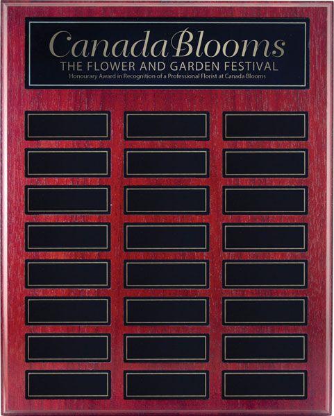 Rosewood Annual Perpetual Plaque
