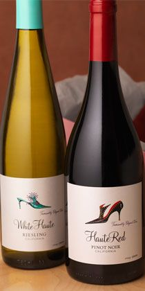 White Haute and Haute Red, riesling and pinot noir. I need to try this, especially since I love the bottle packaging :)
