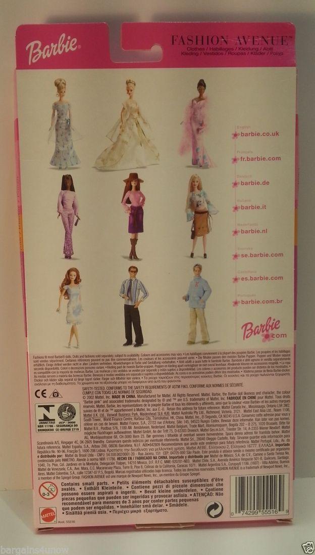 Mattel Barbie Fashion Avenue Blue Jean Skirt Orange Pattern Top - kleine u küche