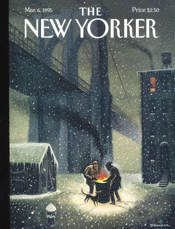 "The New Yorker - Monday, March 6, 1995 - Issue # 3648 - Vol. 71 - N° 2 - Cover ""Under Bridges"" by Eric Drooker"