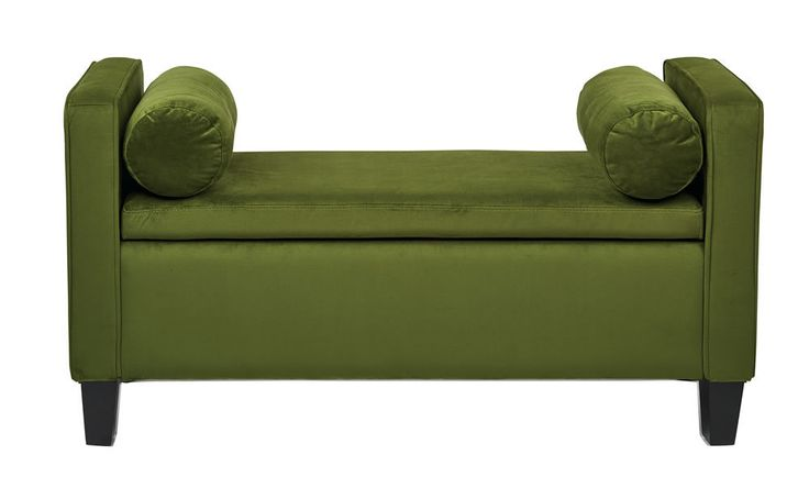 Cordoba Forest Green Fabric Storage Bench Bp Cbot48 C26