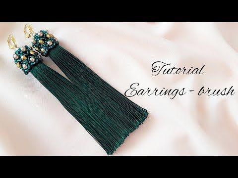 #МК - Серьги - кисти | Оплетка кисточки | #Tutorial - Earrings - brush | - YouTube