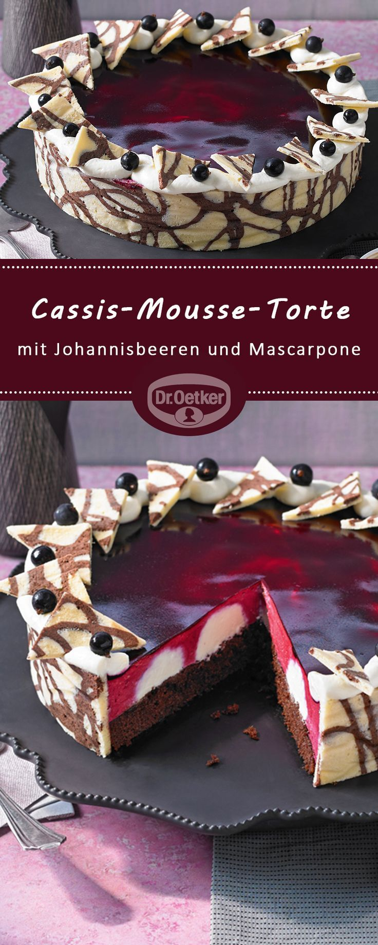 Cassis-Mousse-Kuchen