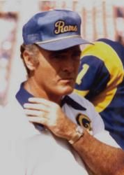 """Chuck Knox Los Angeles Rams 1973-77, Buffalo Bills 1978-82, Seattle Seahawks 1983-91 and Los Angeles Rams 1992-94. Only coach to lead three different teams into the playoffs. Aka """"Ground Chuck"""". Should be more consideration for the HOF. 186-147-1."""