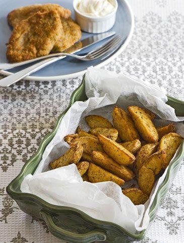 Πατάτες γουέτζες (wedges) με πάπρικα και ρίγανη | Συνταγές, Ορεκτικά & Σνακς | athenarecipes