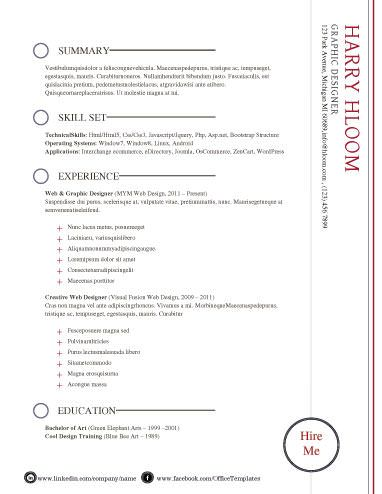 55+ Free Resume Templates for MS Word Free resume, Bullet - modern day resume