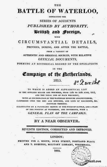 1815 The Battle of Waterloo by a Near Observer.  via Google Books (PD200)  suzilove.com