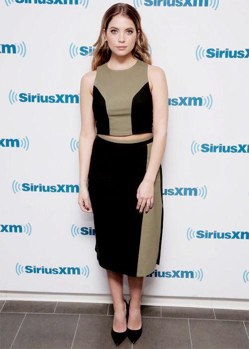 Ashley Benson visits the SiriusXM Studios on January 11, 2016 in New York City
