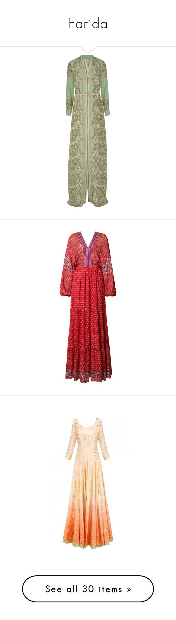 """""""Farida"""" by shulamithbond on Polyvore featuring dresses, gowns, vilshenko, maxi dress, green, green evening dress, evening maxi dresses, multi color maxi dress, green maxi dress and green gown"""