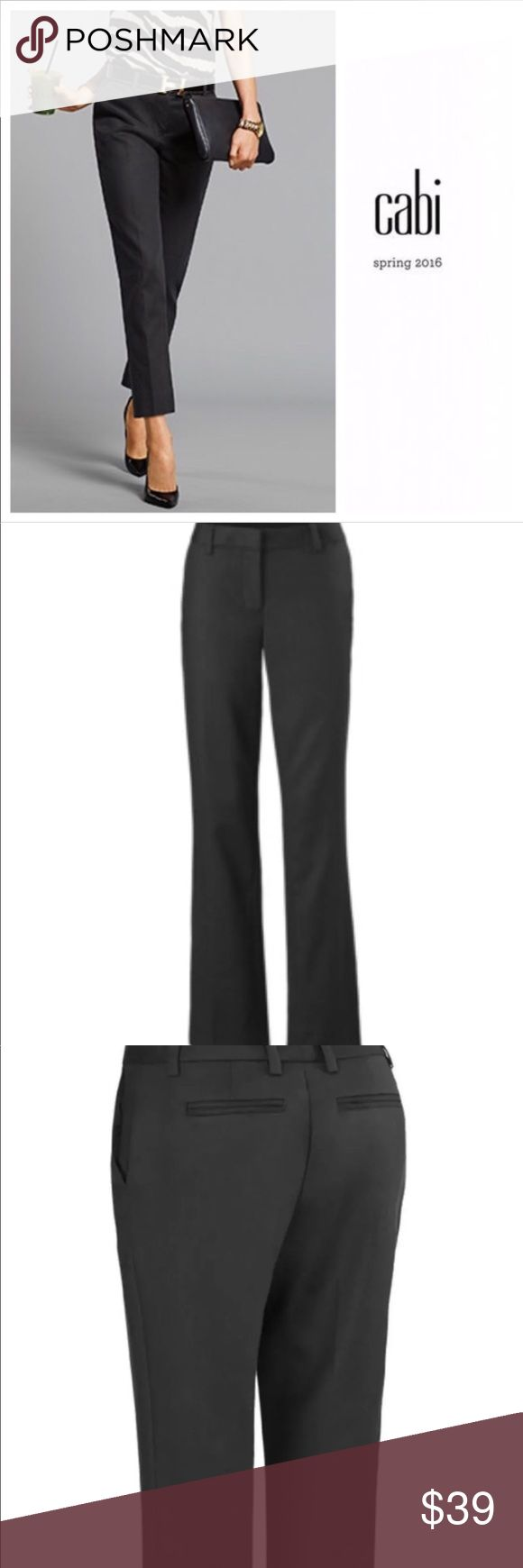 "Cabi go to trousers black Sz 2 5078 ankle pants CAbi Style #5078 Black Go-To Trouser Ankle Pant.  Retail price $119 Size 2; Inseam 27"", Rise 8"", Waist 30""  Pre-owned very good/excellent condition.  I see no flaws.    A new super chic silhouette for us, these Céline-inspired pants have a more relaxed hip and a straighter, ankle-skimming length. In the same substantial cotton, modal, and spandex blend as the Mariner Trouser, this black trouser is the basic that's anything but! CAbi Pants…"