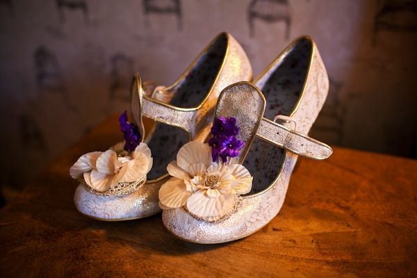 Awesome quirky wedding shoes