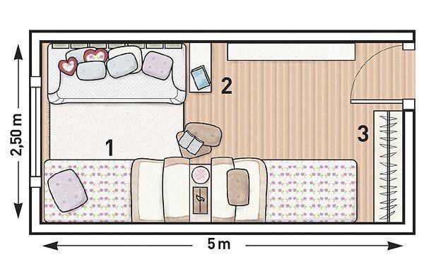 ideas para decorar un dormitorio alargado - Buscar con Google