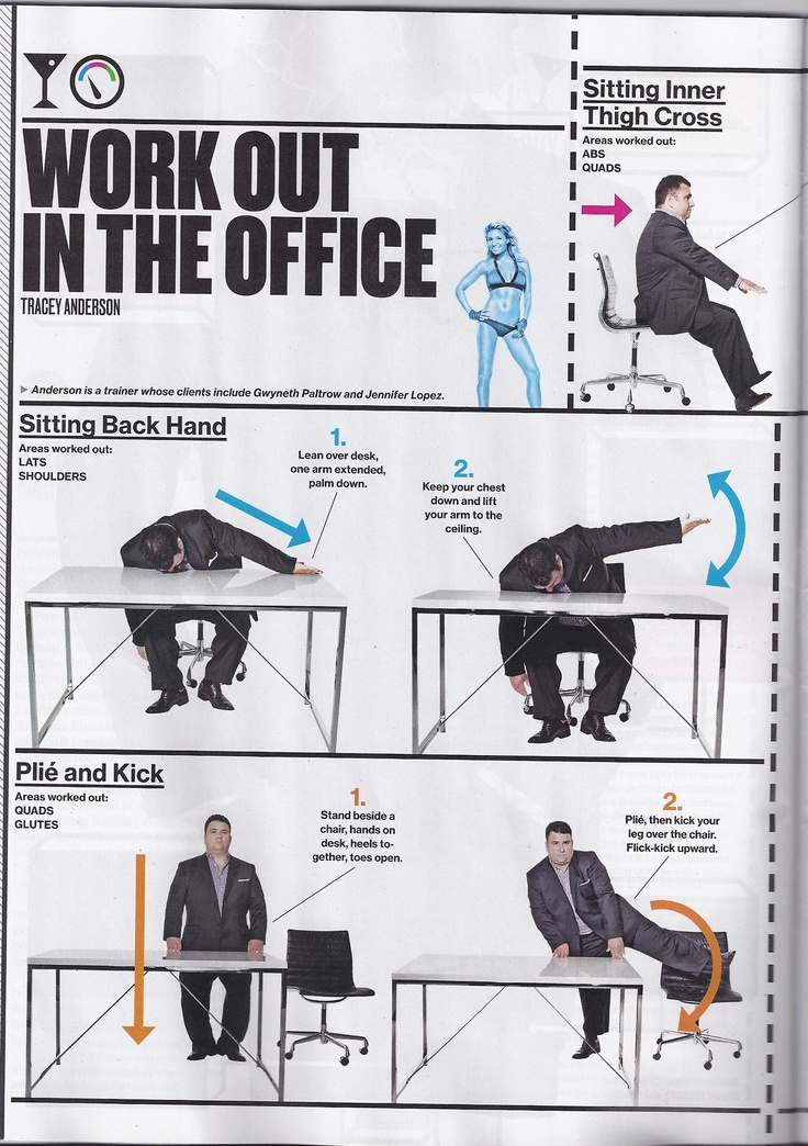 work out in the office: tracey anderson