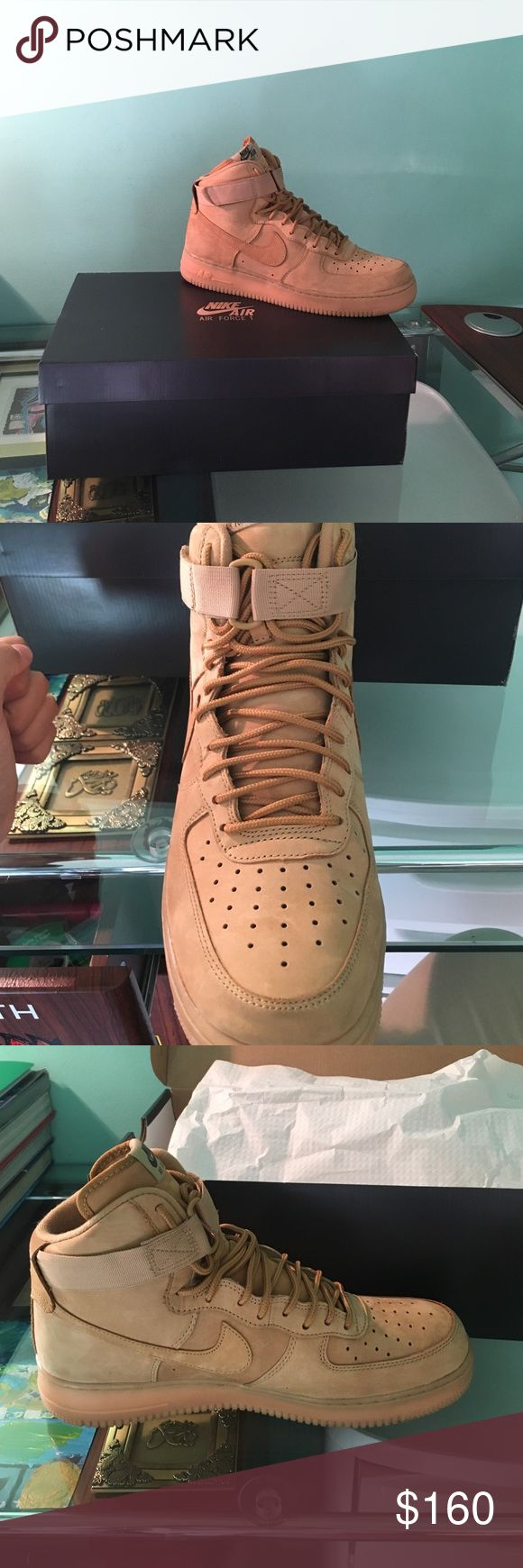 Nike Air Force one flax Brand new, size 10.5, never worn, willing to go lower on PayPal. Nike Shoes Sneakers