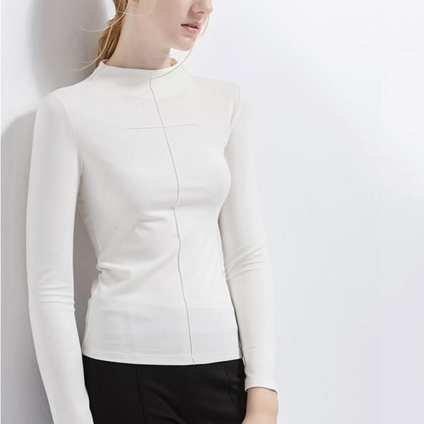 a sleek plain long sleeve top is a must this fall - mnmlst  minimalist clothing