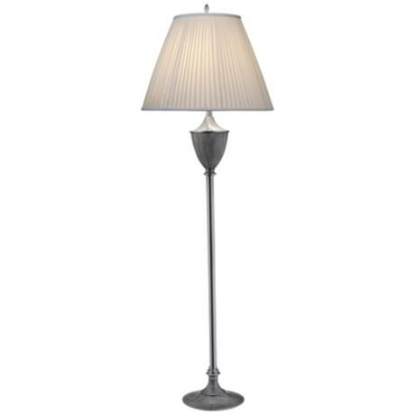 Stiffel Urn Style Pewter Traditional Floor Lamp -