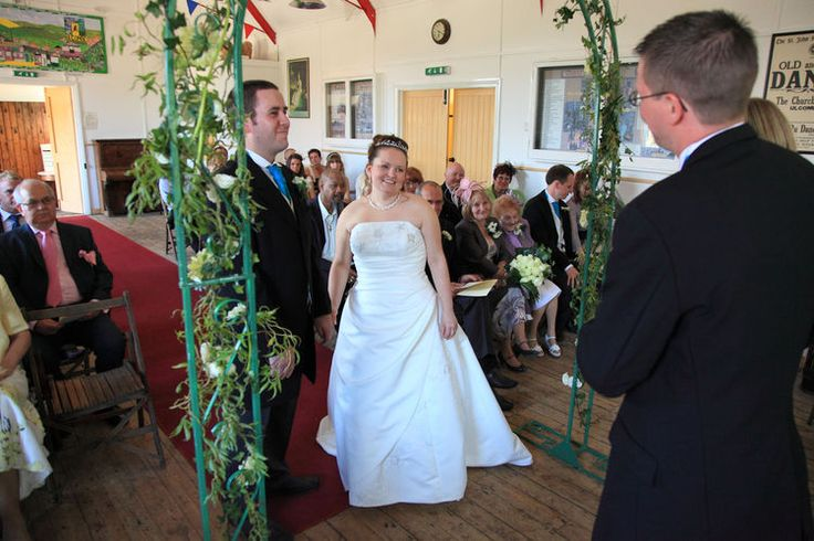 The wedding ceremony at Kent Life