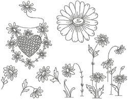 Free Embroidery Designs: Vanity Set - I Sew Free