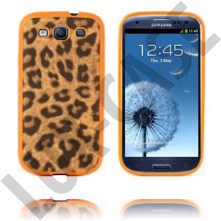 Leopard (Orange) Samsung Galaxy S3 Deksel