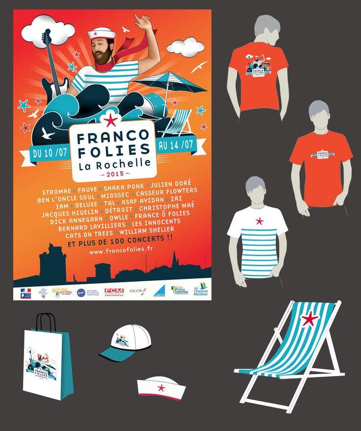 Proposition d'affiche pour les Francofolies de La Rochelle