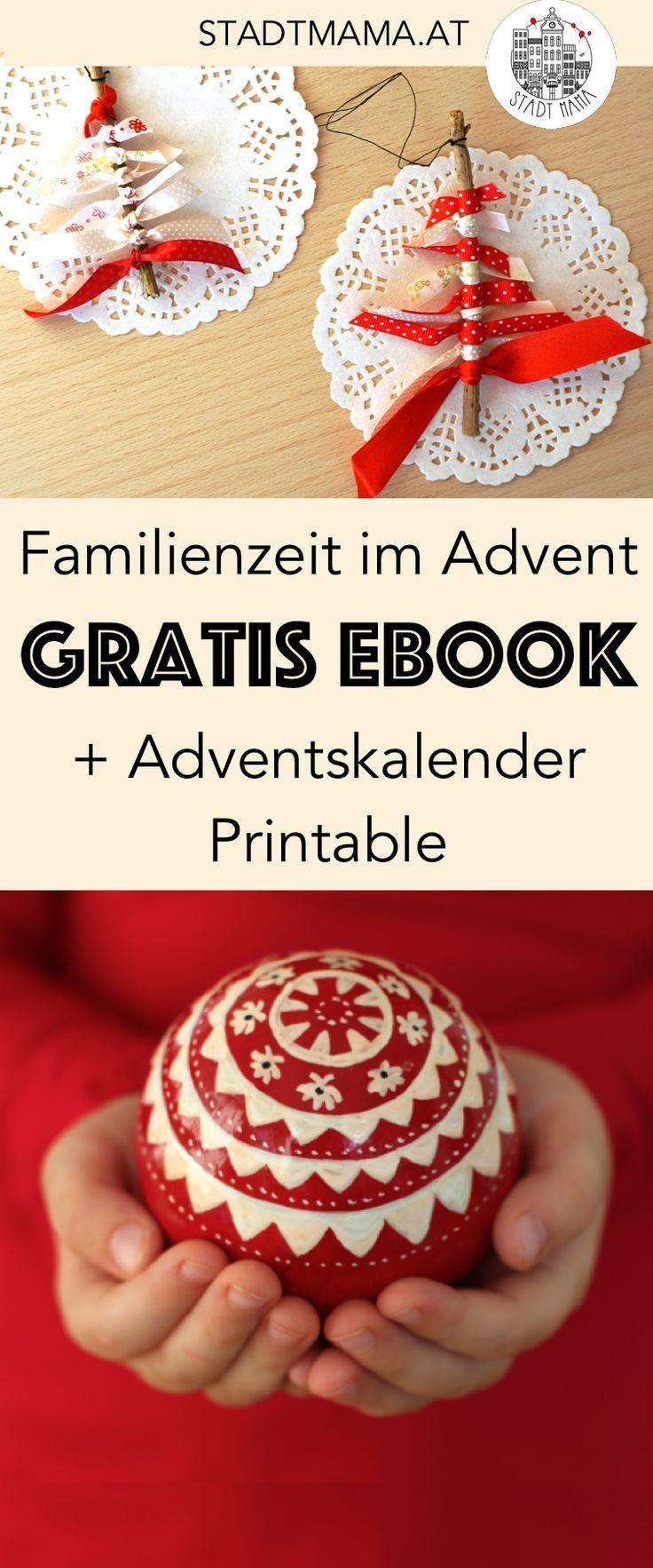 Holt euch mein kostenloses eBook mit vielen Ideen für entspannte und achtsame Familienzeit im Advent. Inklusive vieler Rezepte, Vorlese Geschichten, Bastelideen und Bastelanleitungen und Adventskalender Freebie zum Ausdrucken. #advent #weihnachten #mamablogger #familienblogsAT #mamablogger_at #mamablogger_de #freebie #freebook #ebook #printable