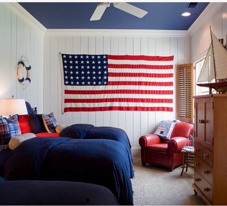 Decorating with Red  White  and Blue   Town   Country Living81 best Red White and Blue images on Pinterest   Holiday fun  . Red White And Blue Painted Furniture. Home Design Ideas