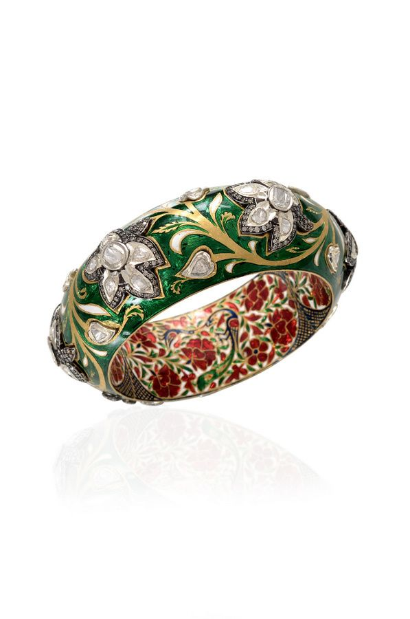 Green Bangle by Amrapali Jewels   Jivaana.com