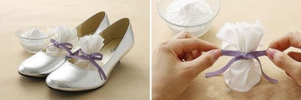Put baking soda in your shoes to disinfect and remove odor. | 13 Life Hacks Every Girl Should Know | http://www.hercampus.com/life/13-life-hacks-every-girl-should-know