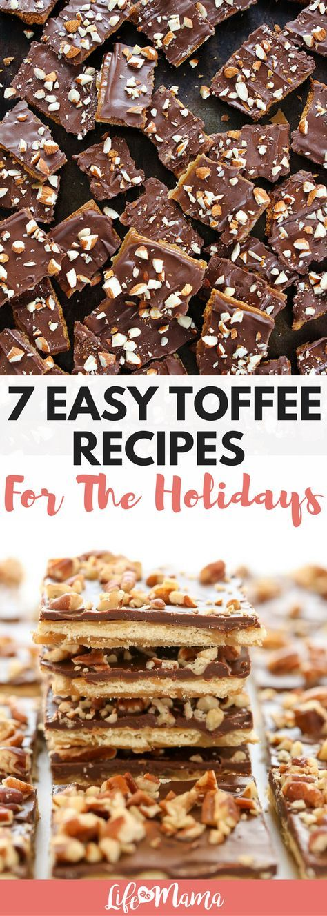 Easy toffee recipes for the holidays! Saltines, graham crackers and Ritz- so many options and all are easy. #toffee #toffeerecipes #easytoffeerecipes #ritztoffee #saltinetoffee