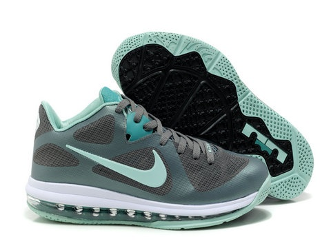 Nike LeBron 9 Low Easter   Style code:510811-001  The easter lebron 9 low shoe features a grey-based upper, with a mint candy green hit on the tongue and LeBron logos on the toebox and heel.The Easter Nike LeBron 9 Low sits atop a new green full-length 360 Air Max bag and mint/grey rubber outsole.