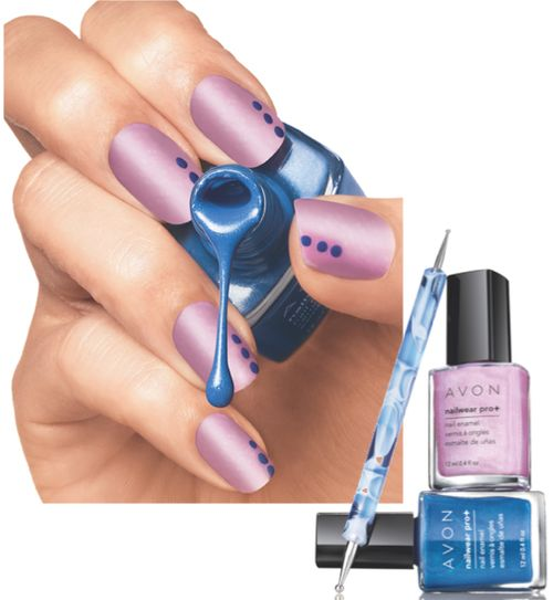 Avon Insider - How to use Avon's Dual Ended Nail Dotting tool. www.youravon.com/kfloer