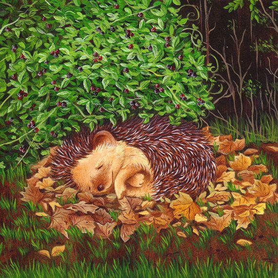 Hey, I found this really awesome Etsy listing at https://www.etsy.com/listing/95895272/art-for-nursery-sleeping-hedgehog-print