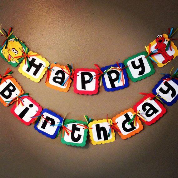 Sesame Street Birthday party Set Elmo Cookie by PurpleZebraPaperCo