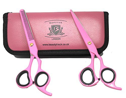 BeautyTrack Barber Scissors BeautyTrack Razor Sharp Scissor Features an extensive Range of Premium Quality Scissors and scissor sets. They are uniquely Crafted by hand using Japanese Stainless Steel, which results in the prevention of rusting. BeautyTrack All scissors have Hamaguri blades which... see more details at https://bestselleroutlets.com/arts-crafts-sewing/crafting/craft-supplies/product-review-for-beautytrack-professional-barber-hair-scissor-set/